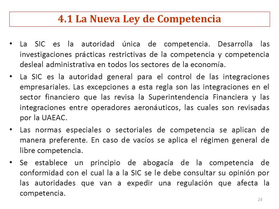 La SIC es la autoridad única de competencia. Desarrolla las investigaciones prácticas restrictivas de la competencia y competencia desleal administrat