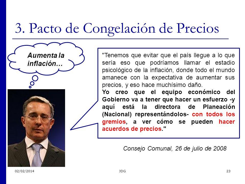 02/02/2014JDG23 3. Pacto de Congelación de Precios