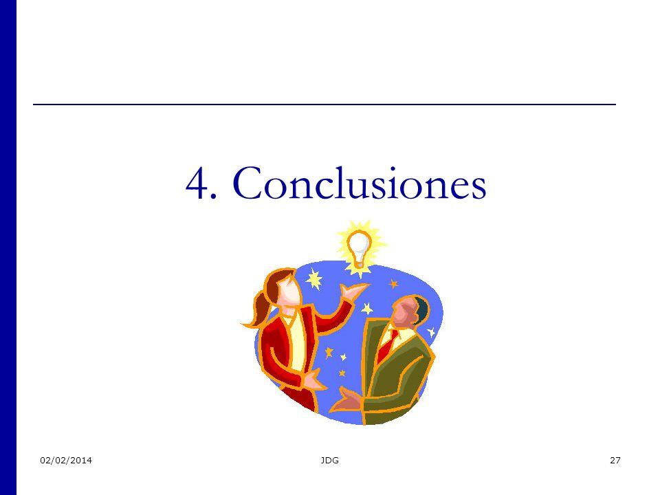 02/02/2014JDG27 4. Conclusiones