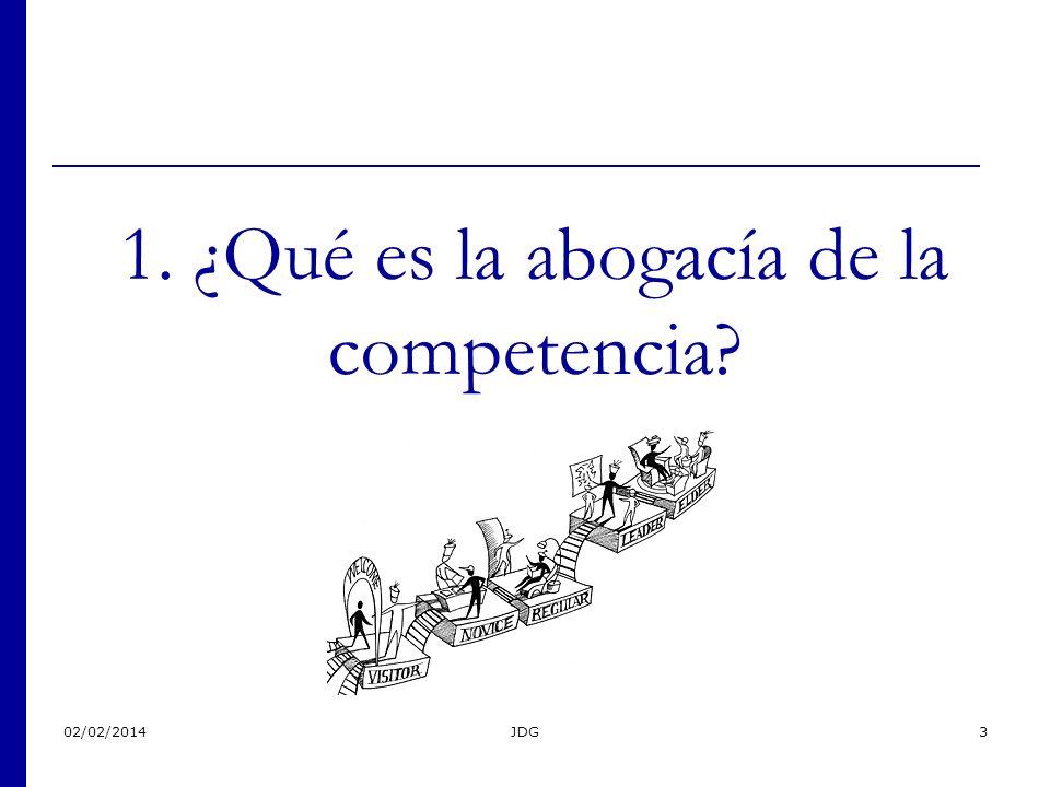 02/02/2014JDG3 1. ¿Qué es la abogacía de la competencia?