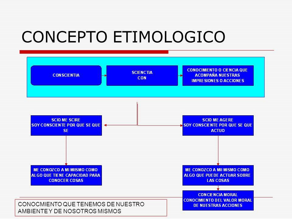 CONCEPTO ETIMOLOGICO CONOCMIENTO QUE TENEMOS DE NUESTRO AMBIENTE Y DE NOSOTROS MISMOS