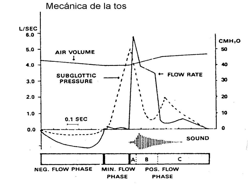 Tos Inefectiva Efectos deletéreos en sistema respiratorio Acumulación de secreciones Atelectasias Infección