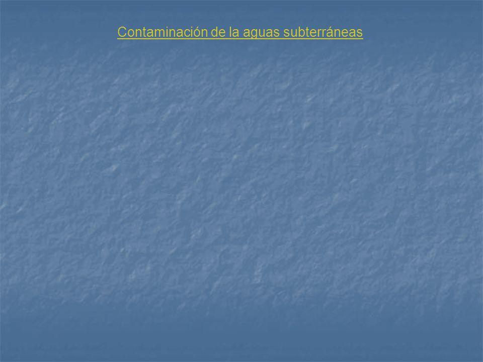 Contaminación de la aguas subterráneas