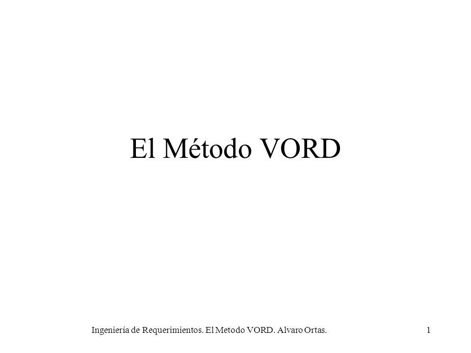 Ingeniería de Requerimientos. El Metodo VORD. Alvaro Ortas.1 El Método VORD