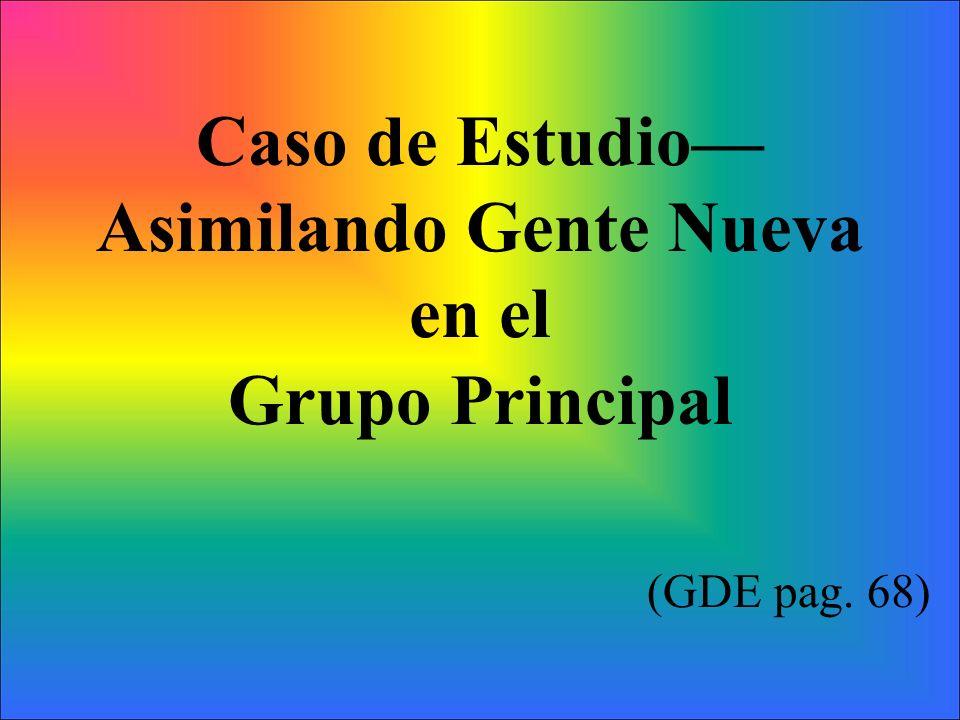 Caso de Estudio Asimilando Gente Nueva en el Grupo Principal (GDE pag. 68)