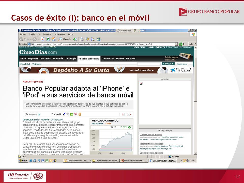 12 Casos de éxito (I): banco en el móvil