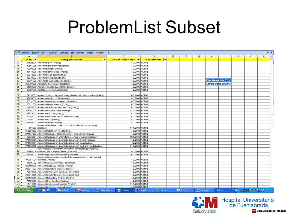 ProblemList Subset