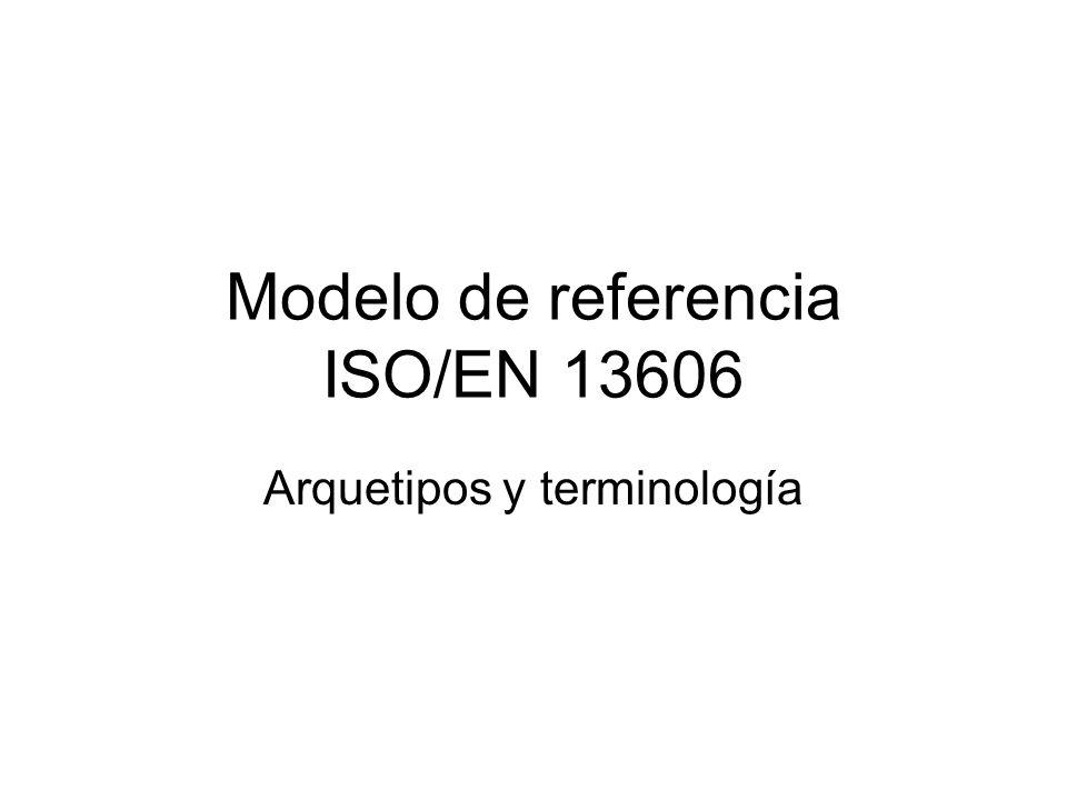 Modelo de referencia ISO/EN 13606 Arquetipos y terminología