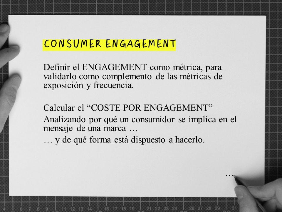 No será fácil establecer los parámetros que midan el grado de implicación del consumidor …