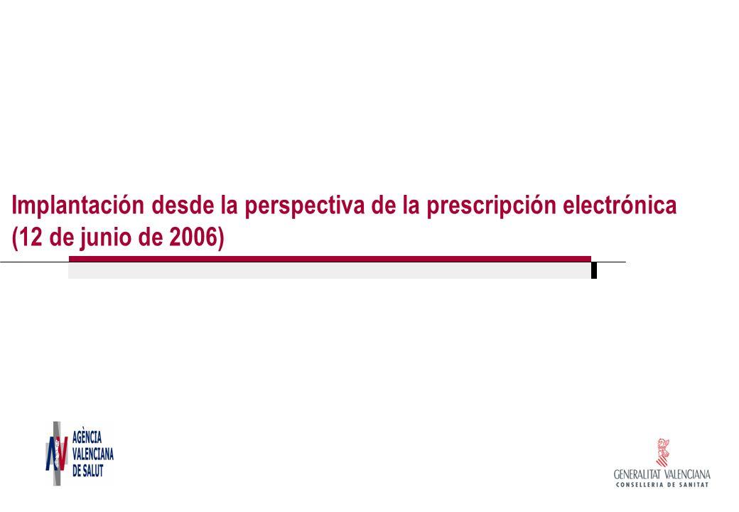 Implantación desde la perspectiva de la prescripción electrónica (12 de junio de 2006)