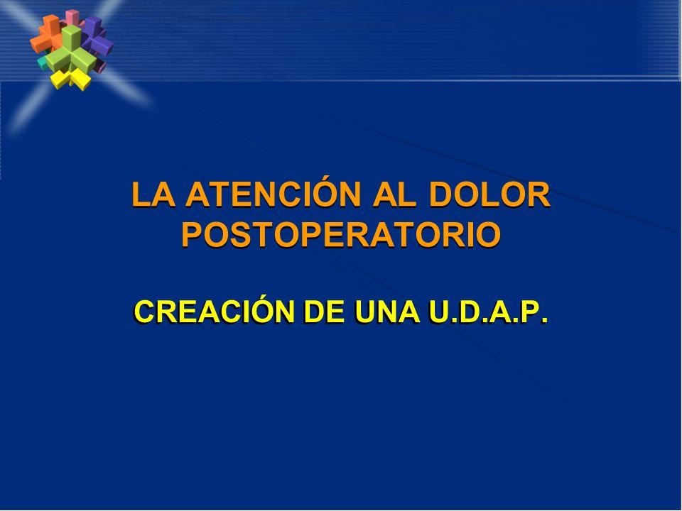 LA ATENCIÓN AL DOLOR POSTOPERATORIO CREACIÓN DE UNA U.D.A.P.