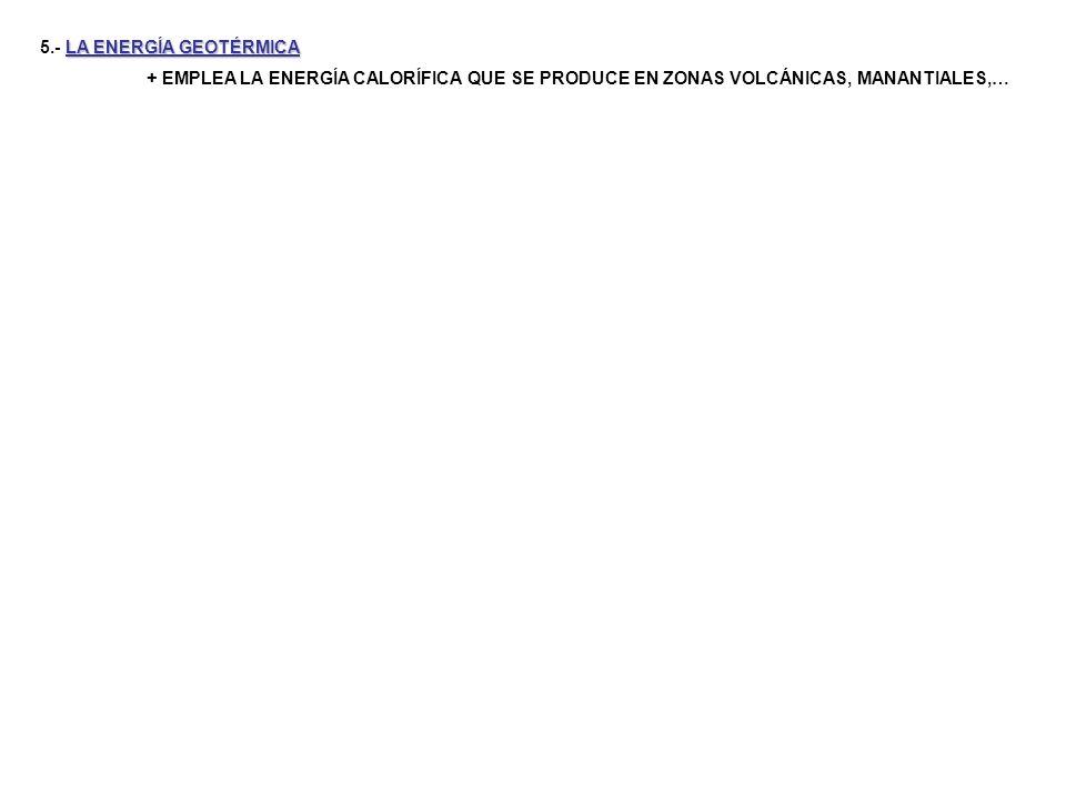 LA ENERGÍA DE LOS OCÉANOS 8.- LA ENERGÍA DE LOS OCÉANOS + MOVIMIENTO DE LAS MAREAS Y DE LAS OLAS + DIFERENCIAS DE TEMPERATURA DE LAS CAPAS DE AGUA + POCO DESARROLLADA