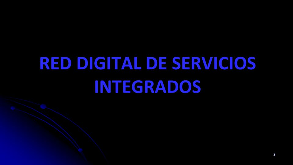 RED DIGITAL DE SERVICIOS INTEGRADOS 2