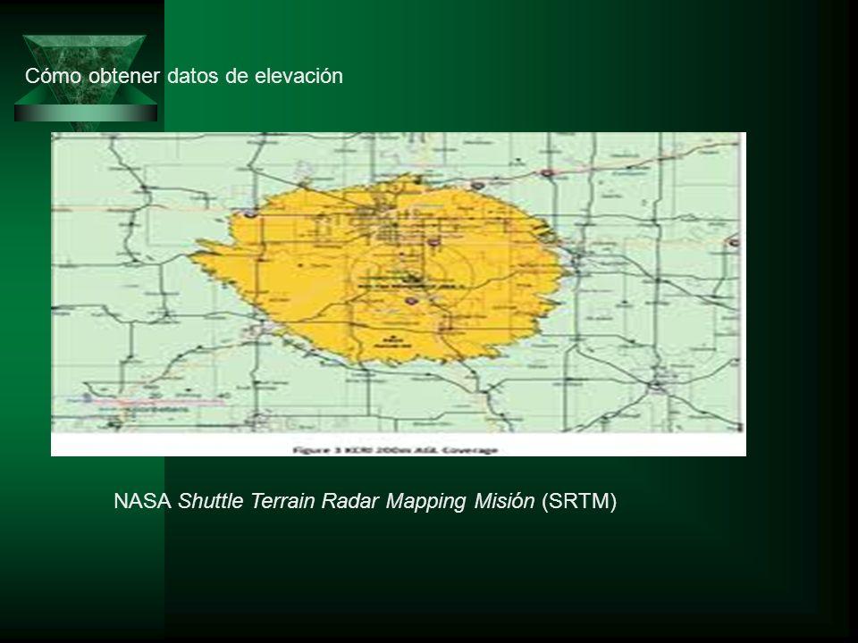 Cómo obtener datos de elevación NASA Shuttle Terrain Radar Mapping Misión (SRTM)