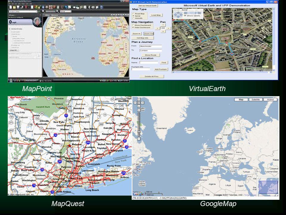 MapPointVirtualEarth GoogleMapMapQuest