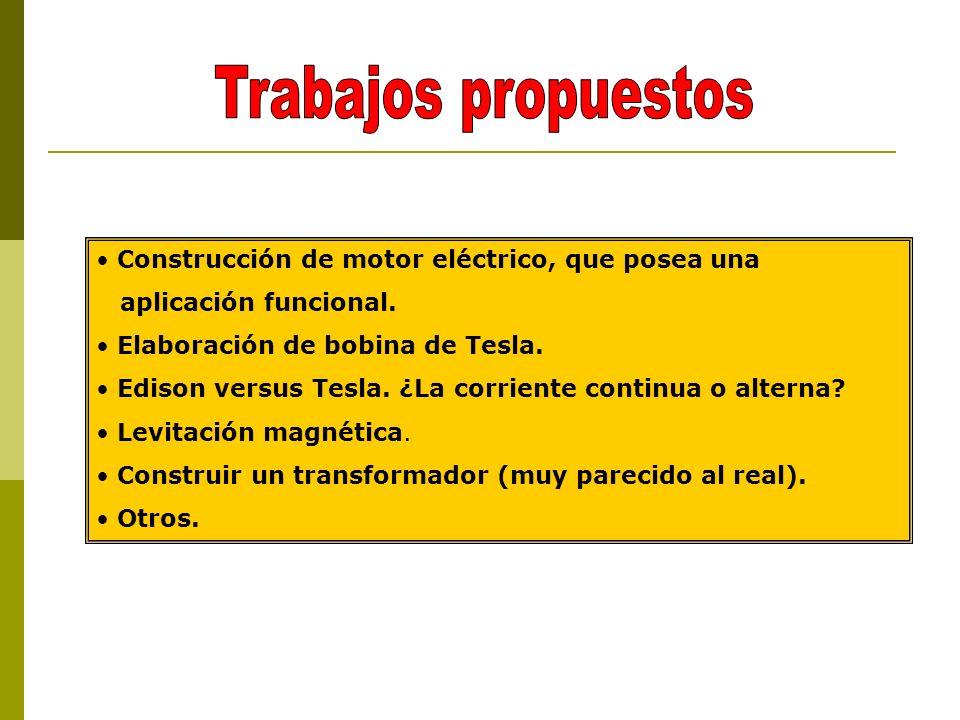 Construcción de motor eléctrico, que posea una aplicación funcional.