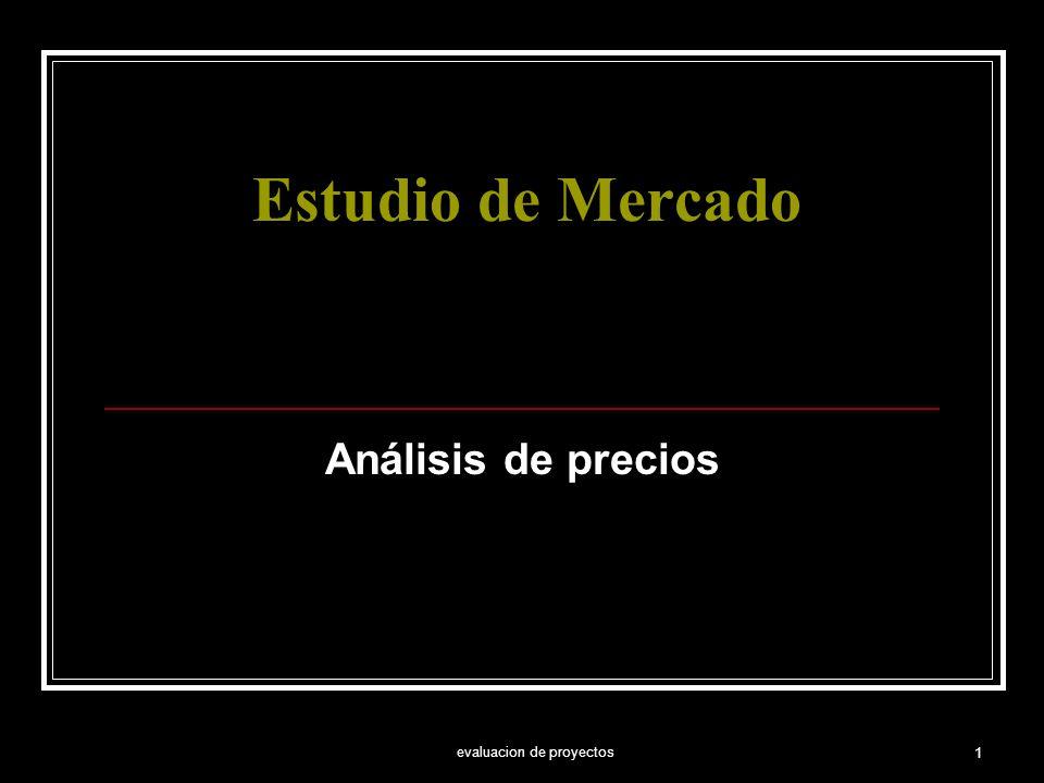 evaluacion de proyectos 1 Estudio de Mercado Análisis de precios