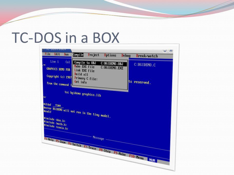 TC-DOS in a BOX