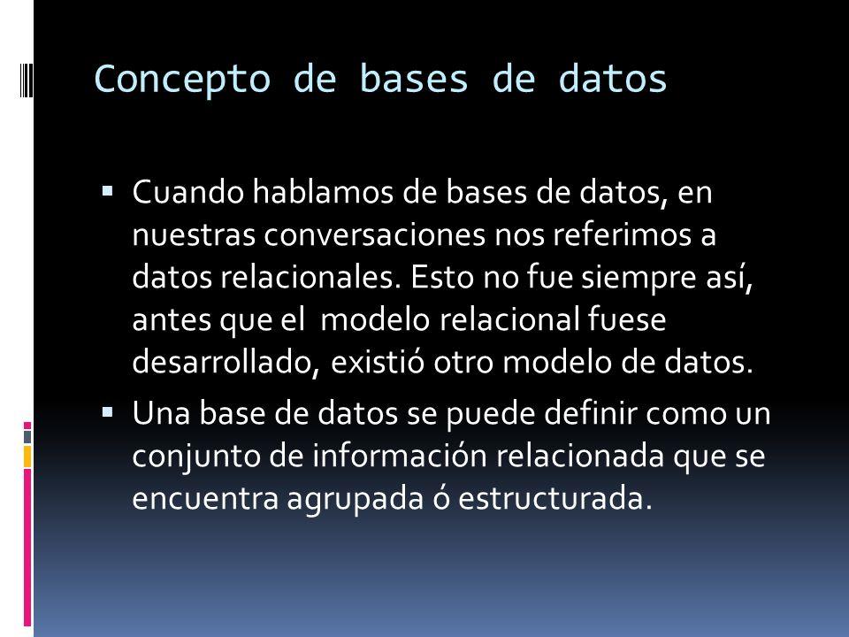 Introducción Las bases de datos se han constituido como una de las herramientas más ampliamente difundidas en la actual sociedad de la información, almacenamiento de información en todos los campos ha nivel científico, social, económico, político y cultural.