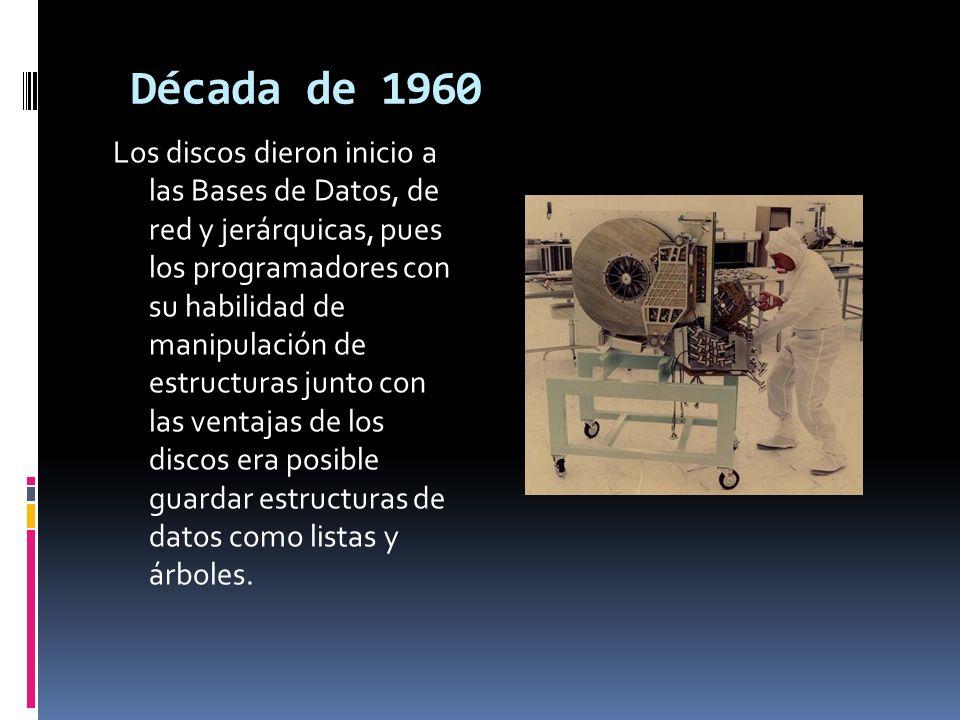 En este lapso de tiempo se da origen a las cintas magnéticas, las cuales sirvieron para suplir las necesidades de información de las nuevas industrias.
