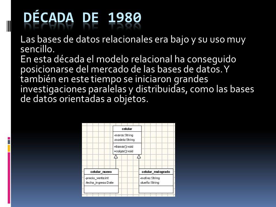 En 1970 se definió el modelo relacional y publicó una serie de reglas para la evaluación de administradores de sistemas de datos relacionales y así nacieron las bases de datos relacionales.