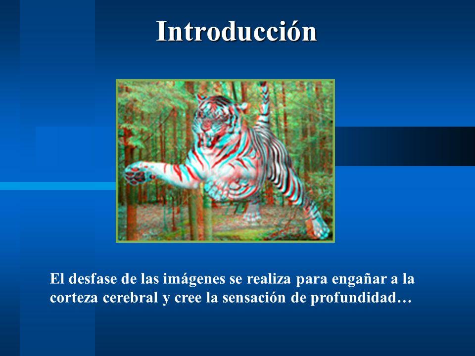 El desfase de las imágenes se realiza para engañar a la corteza cerebral y cree la sensación de profundidad…Introducción