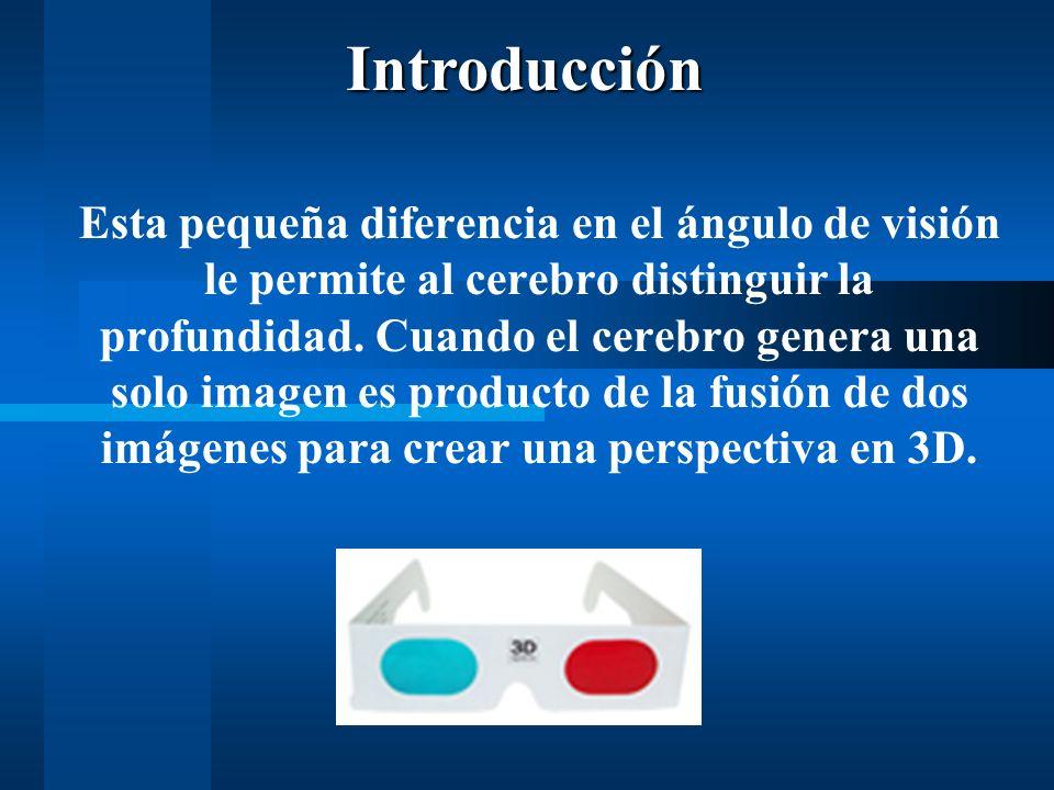Esta pequeña diferencia en el ángulo de visión le permite al cerebro distinguir la profundidad.