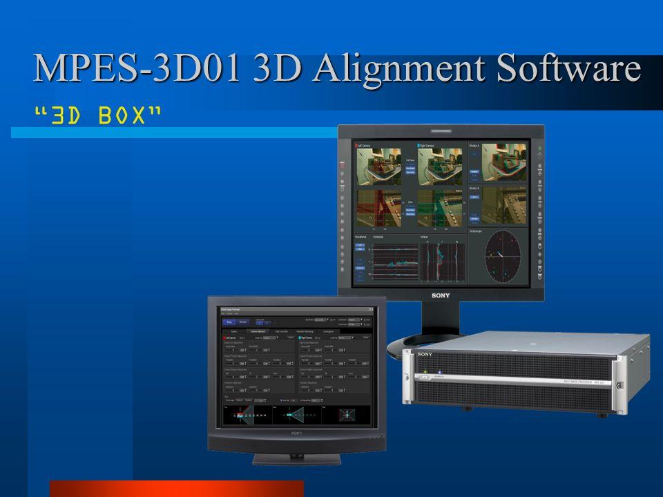 MPES-3D01 3D Alignment Software 3D BOX