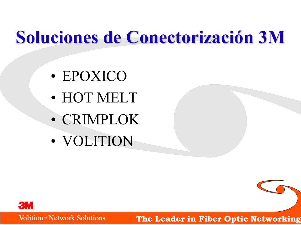 Volition Network Solutions The Leader in Fiber Optic Networking Soluciones de Conectorización 3M EPOXICO HOT MELT CRIMPLOK VOLITION