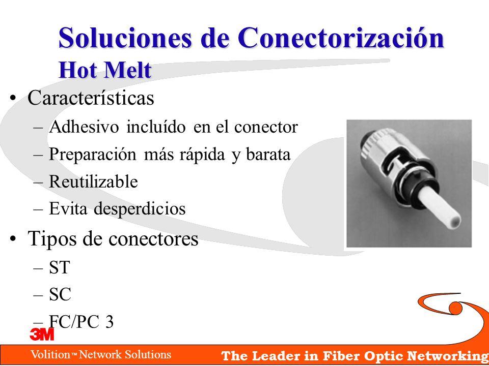 Volition Network Solutions The Leader in Fiber Optic Networking Soluciones de Conectorización Hot Melt Características –Adhesivo incluído en el conect