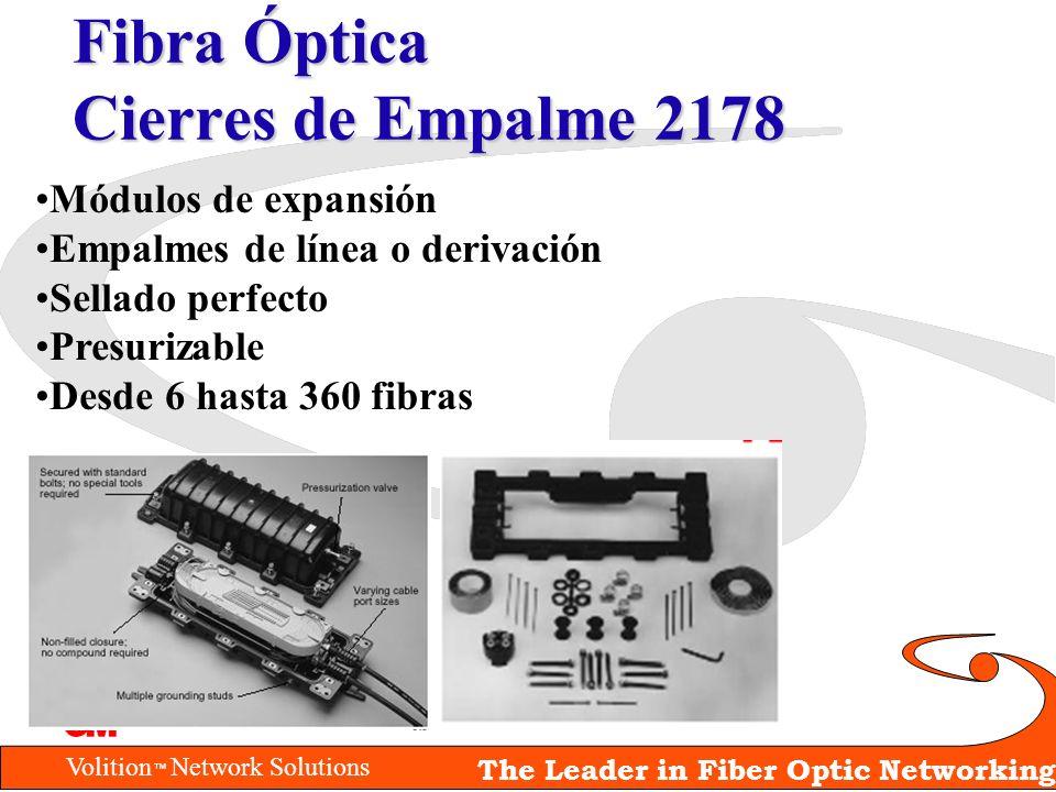 Volition Network Solutions The Leader in Fiber Optic Networking Fibra Óptica Cierres de Empalme 2178 Módulos de expansión Empalmes de línea o derivaci