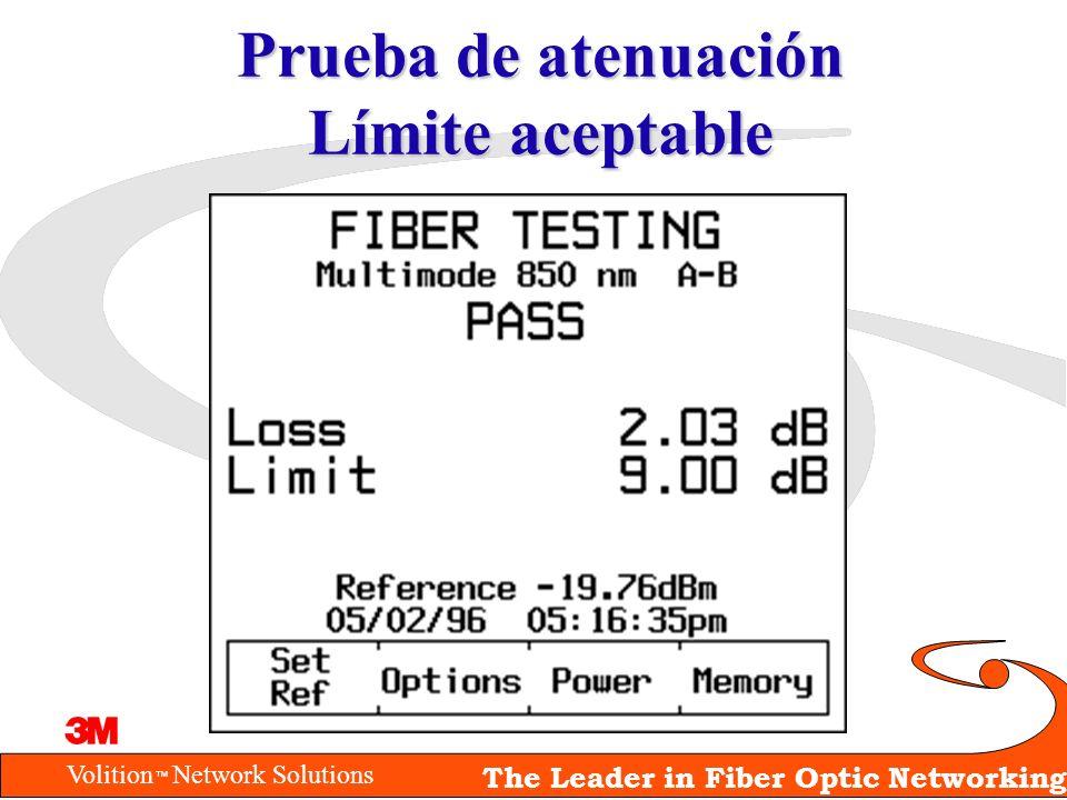 Volition Network Solutions The Leader in Fiber Optic Networking Prueba de atenuación Límite aceptable