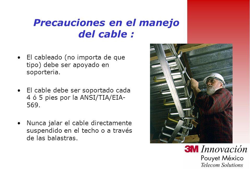 Precauciones en el manejo del cable