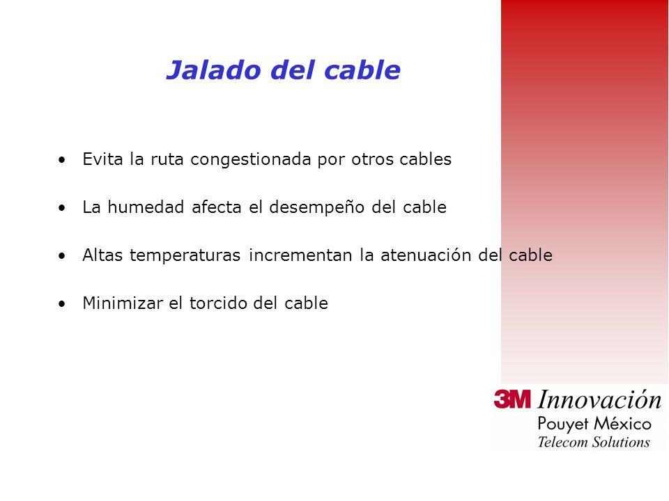 Evita machucar el cable y doblarlo por esquinas afiladas Gradualmente jala el cable hacia el lugar El Jalado del cable no debe exceder una tensión de