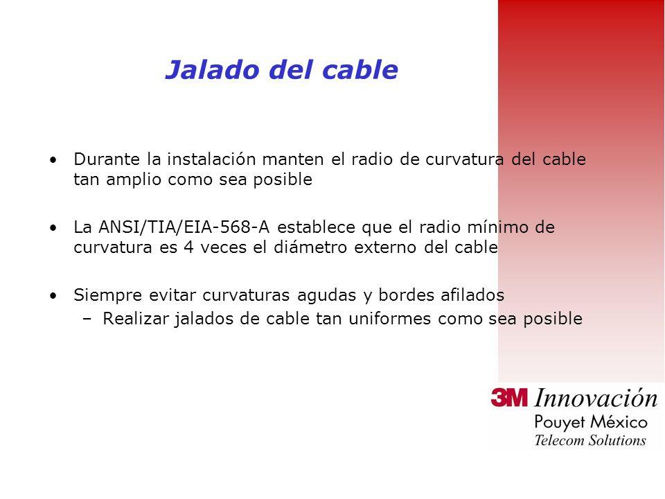 Evita la ruta congestionada por otros cables La humedad afecta el desempeño del cable Altas temperaturas incrementan la atenuación del cable Minimizar