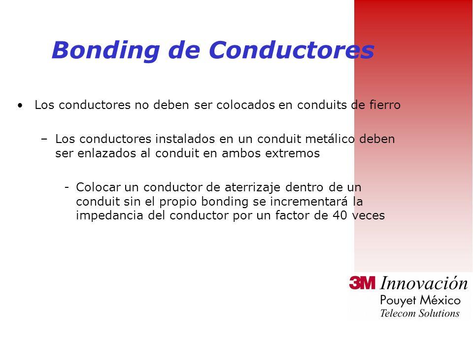 Cuando los empalmes son inevitables: –Los empalmes deben ser: Irreversibles –Comprimidos –Exotermicos Accesibles Bonding de Conductores