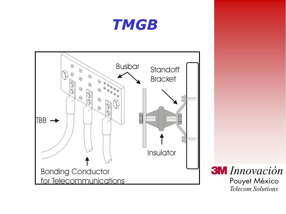 Barra de tierra principal para Telecomunicaciones (TMGB) TMGB sirve como una extensión dedicada al sistema de aterrizaje del edificio para la infraest