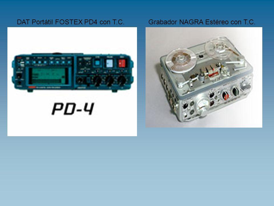 DAT Portátil FOSTEX PD4 con T.C.Grabador NAGRA Estéreo con T.C.