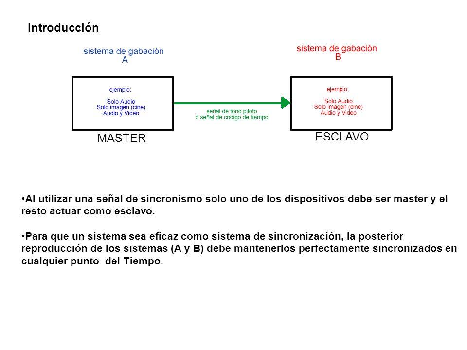 Si se utiliza una señal de tono piloto (ejemplo: pilotone ó neopilote de nagra) cada pulso enviado al sistema esclavo de grabación debe relacionarse directa o indirectamente con algún evento ocurrido en el sistema de grabación maestro.