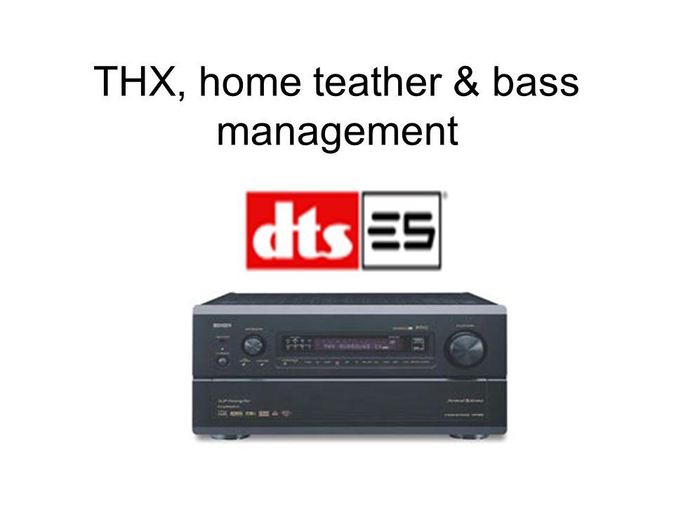 El debate de como manejar las frecuencias bajas sigue hasta ahora: por un lado tenemos la metodología THX que nos dice que todos los canales full range de un home theater deben ser filtrados en 80 Hz (con una pendiente de 24 dB/octava para el filtro pasabajos y una pendiente de 12 dB/octava para el filtro pasaaltos) y que el subwoofer debe manejar todas las frecuencias bajo los 80 Hz.
