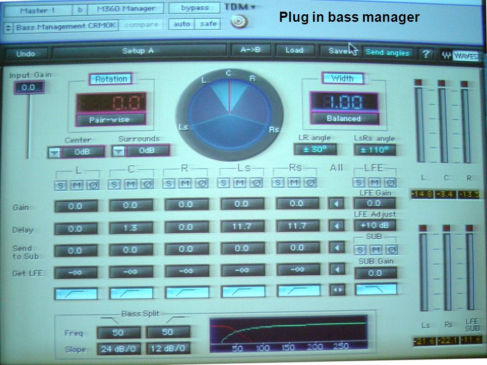 Plug in bass manager