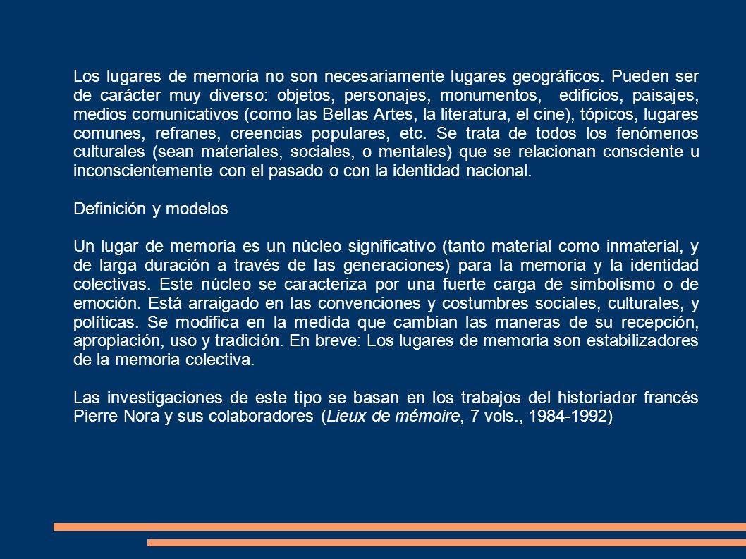 Sobre la cuestión de los lugares de memoria en Europa: http://clio.rediris.es/clionet/articulos/memoria_guerras.htm http://www.crdp- reims.fr/memoire/enseigner/default.htm El debate historiográfico en España: http://hispanianova.rediris.es/7/index.htm http://age.ieg.csic.es/boletin/51/08-GARCIA.pdf
