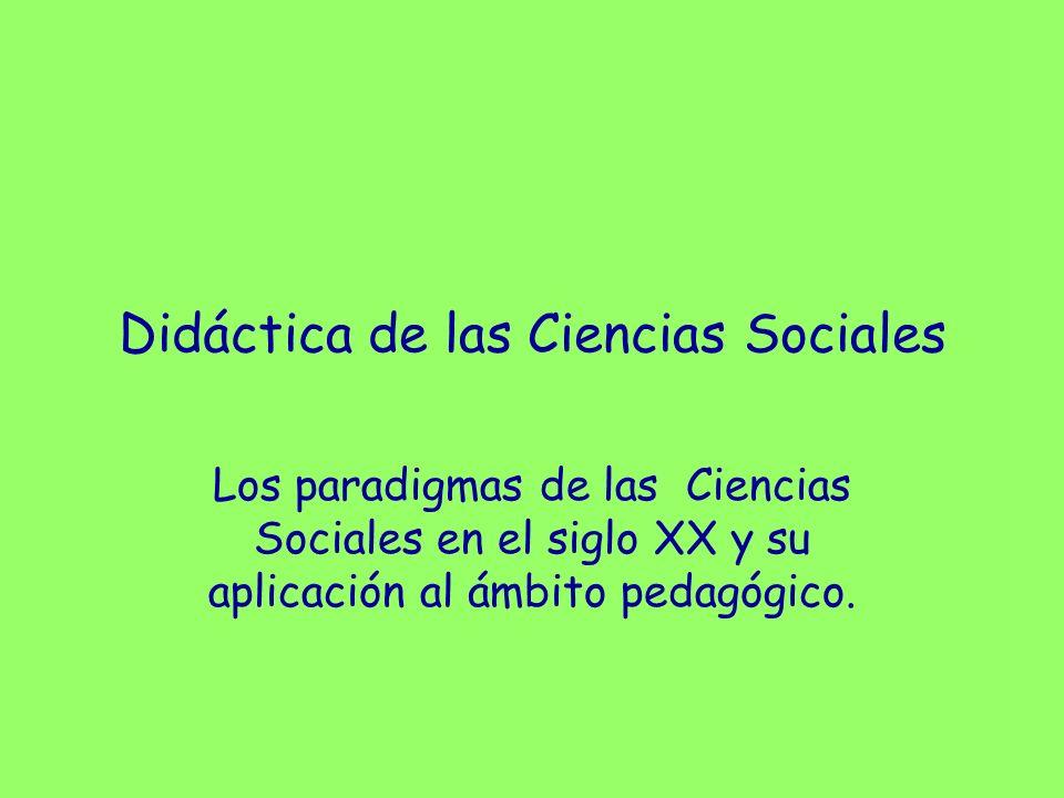 La didáctica de las Ciencias Sociales (I) Concepto de Ciencias Sociales: Agrupación de disciplinas que estudian al ser humano como ser social por medio del método científico, de forma diferente a las Ciencias Físicas o Biológicas.