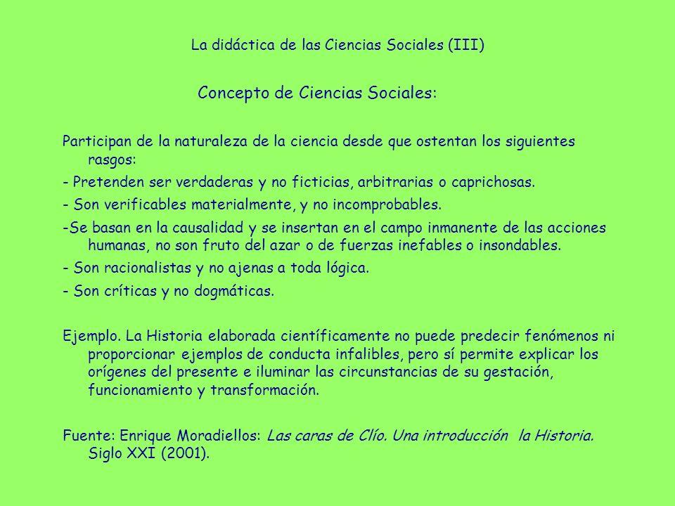 La didáctica de las Ciencias Sociales (IV) Pongamos un ejemplo.