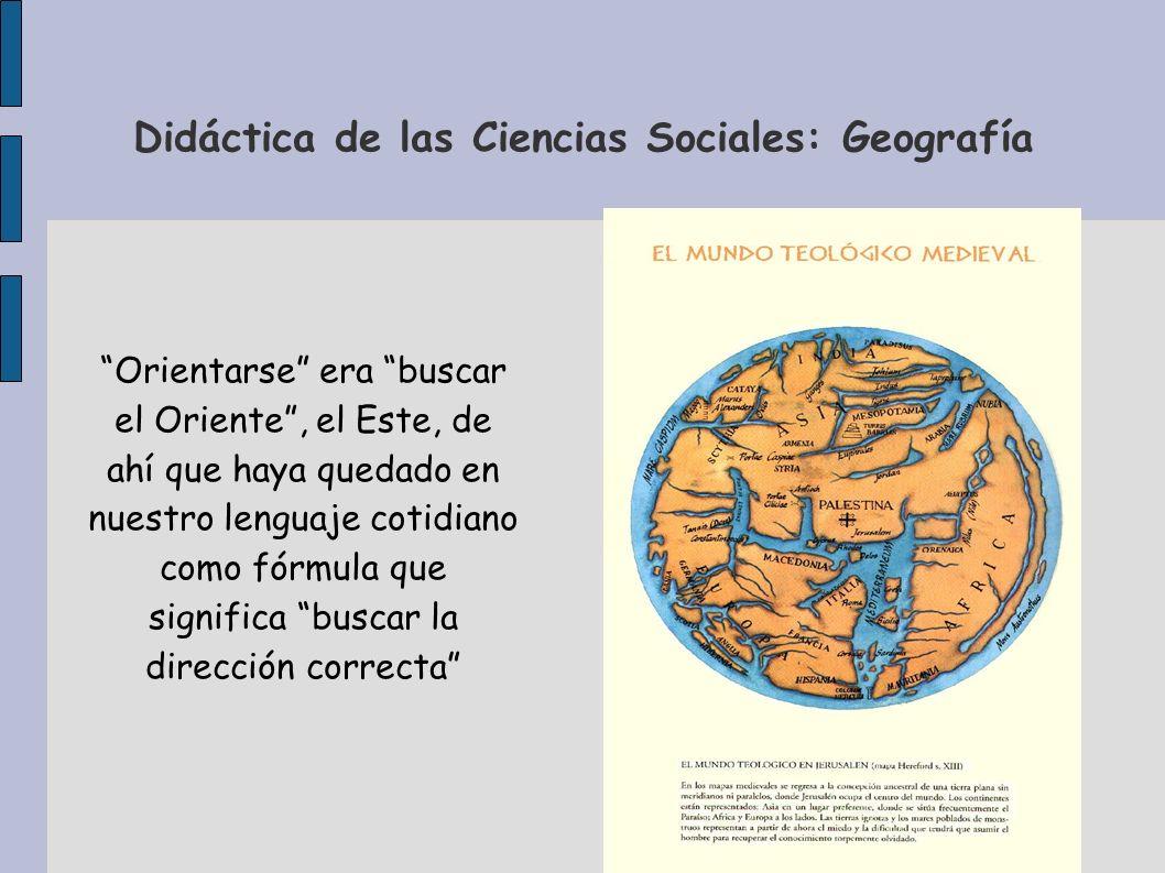 Didáctica de las Ciencias Sociales: Geografía Orientarse era buscar el Oriente, el Este, de ahí que haya quedado en nuestro lenguaje cotidiano como fó