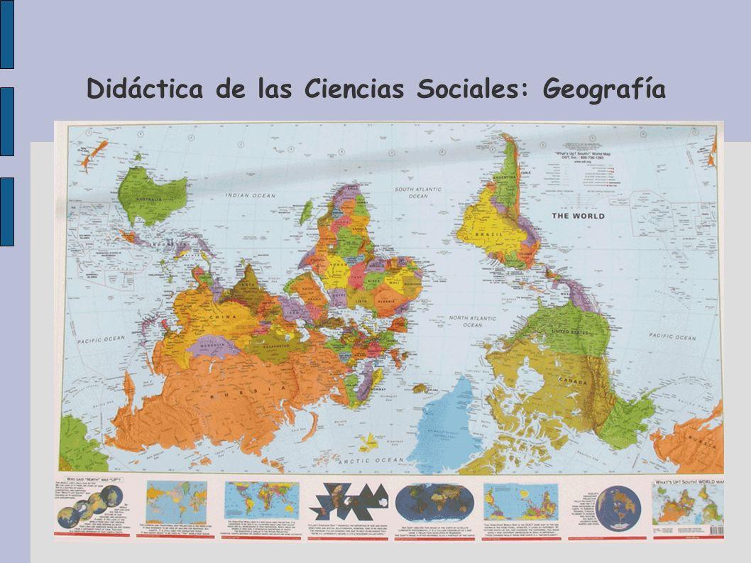 Didáctica de las Ciencias Sociales: Geografía Es decir, para el mundo musulmán la representación de la Tierra sería esta...