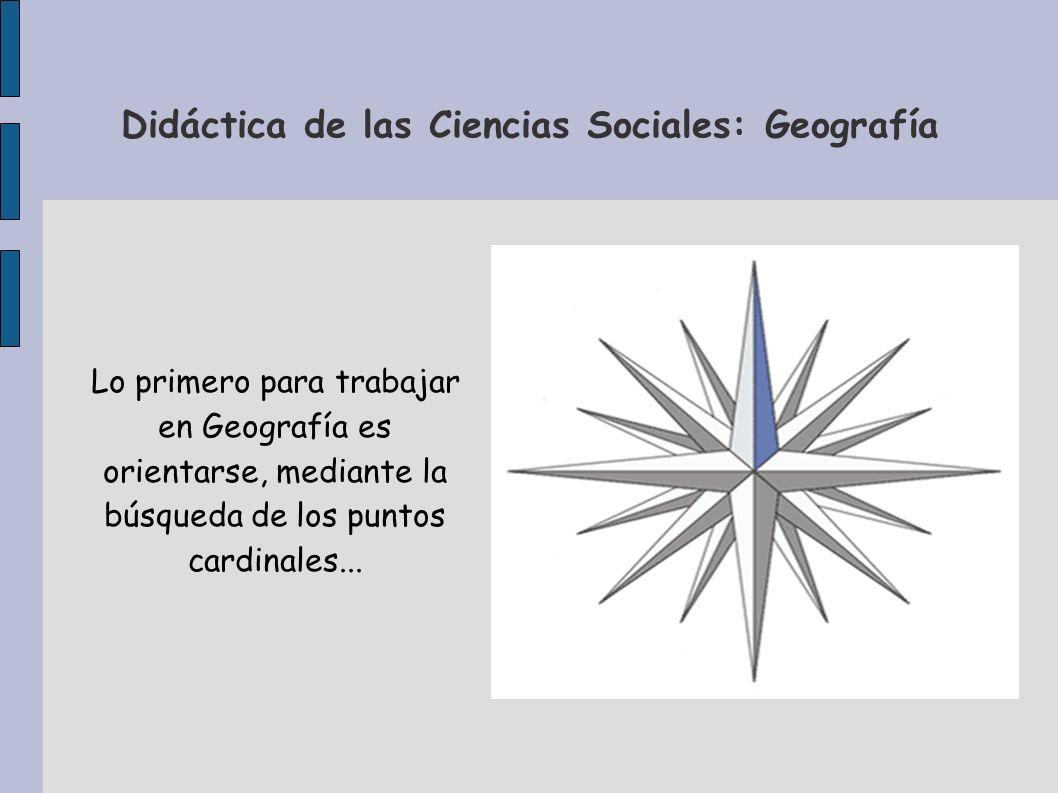 Didáctica de las Ciencias Sociales: Geografía … Y ampliar nuestro vocabulario con otros términos de localización: Oriente, Occidente, Levante, Poniente, Meridional, Septentrional...