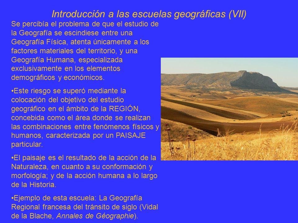 Introducción a las escuelas geográficas (VIII) Para la Geografía Regional, la tarea fundamental del geógrafo era la de elaborar la síntesis de los diversos fenómenos (físicos, naturales, humanos, económicos...) que entran en la combinación regional.
