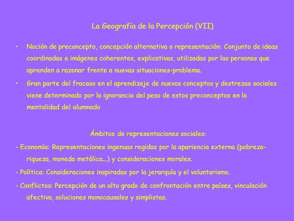 Noción de preconcepto, concepción alternativa o representación: Conjunto de ideas coordinadas e imágenes coherentes, explicativas, utilizadas por las