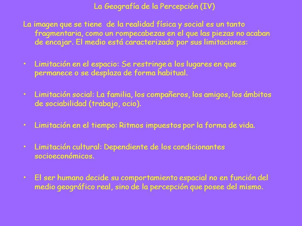 Geografía de la percepción (años 60).
